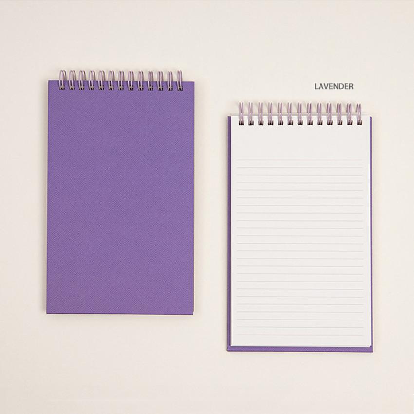 Lavender - Ardium Color large spiral bound lined notepad