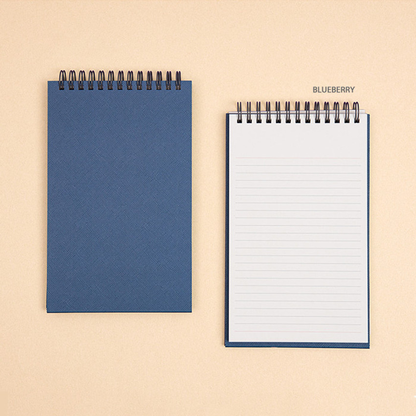 Blueberry - Ardium Color large spiral bound lined notepad