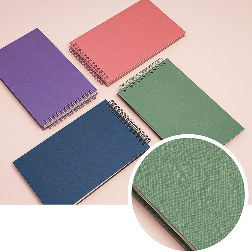 Coated cover - Ardium Color large spiral bound lined notepad