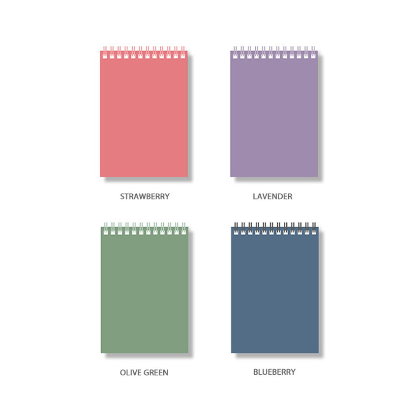 Color - Ardium Color medium spiral bound lined notepad