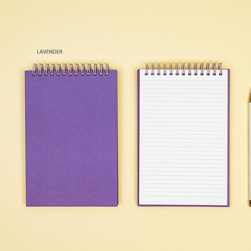 Lavender - Ardium Color medium spiral bound lined notepad