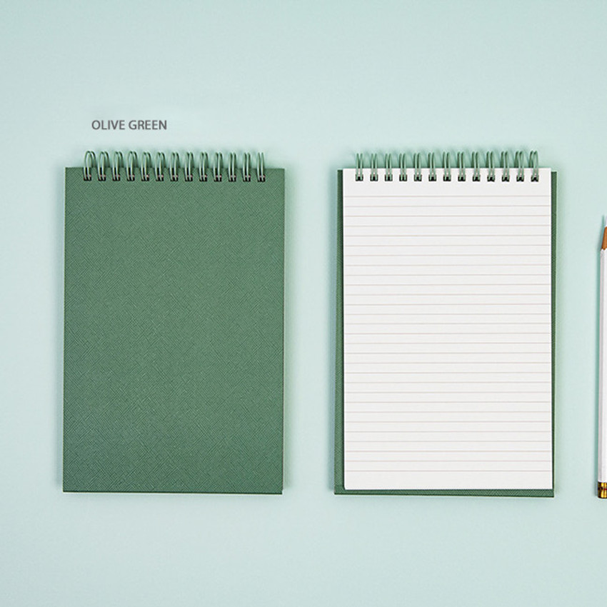 Olive Green - Ardium Color medium spiral bound lined notepad