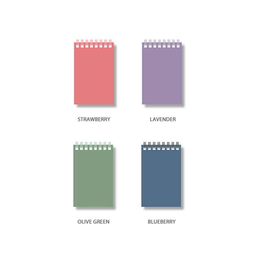 Color - Ardium Color small spiral bound grid notepad