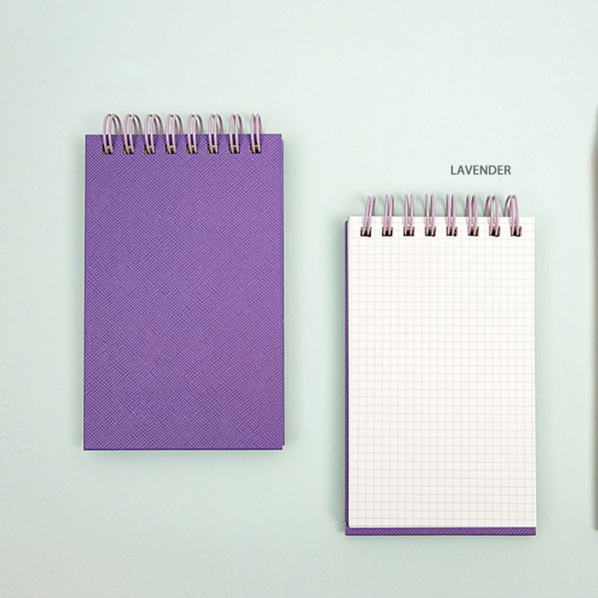 Lavender - Ardium Color small spiral bound grid notepad