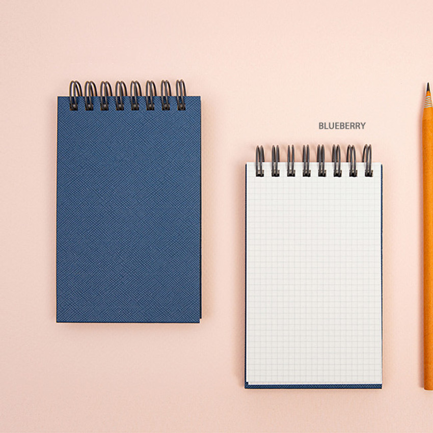 Blueberry - Ardium Color small spiral bound grid notepad