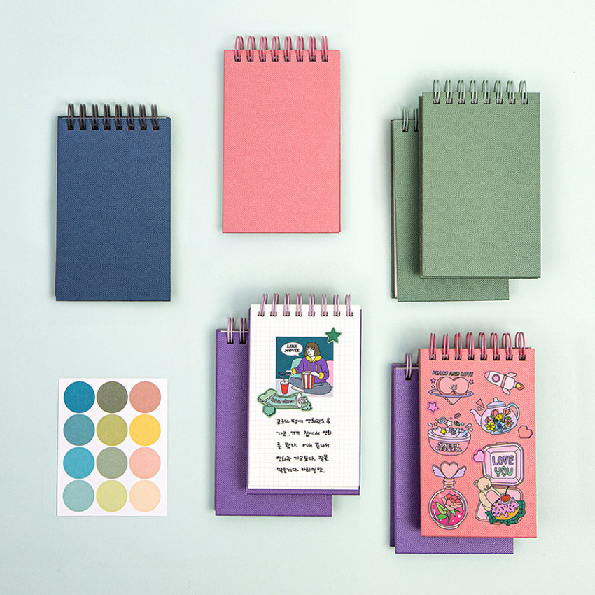 Ardium Color small spiral bound grid notepad