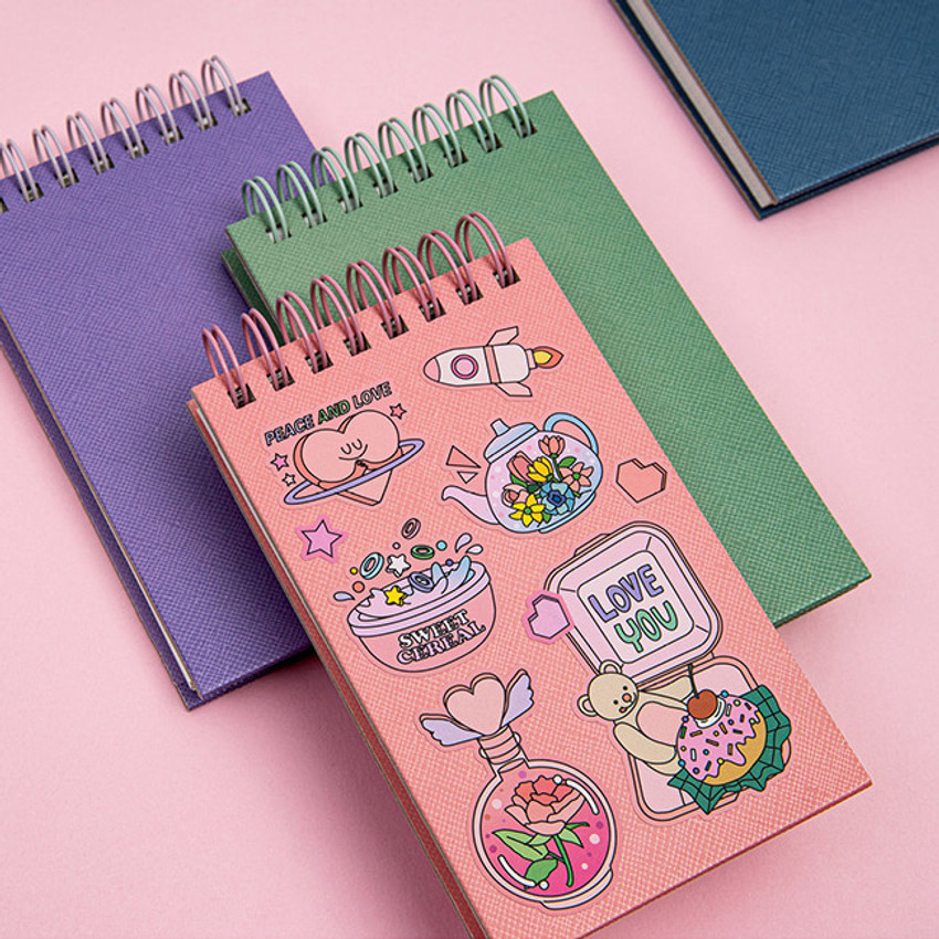 Usage example - Ardium Color small spiral bound grid notepad