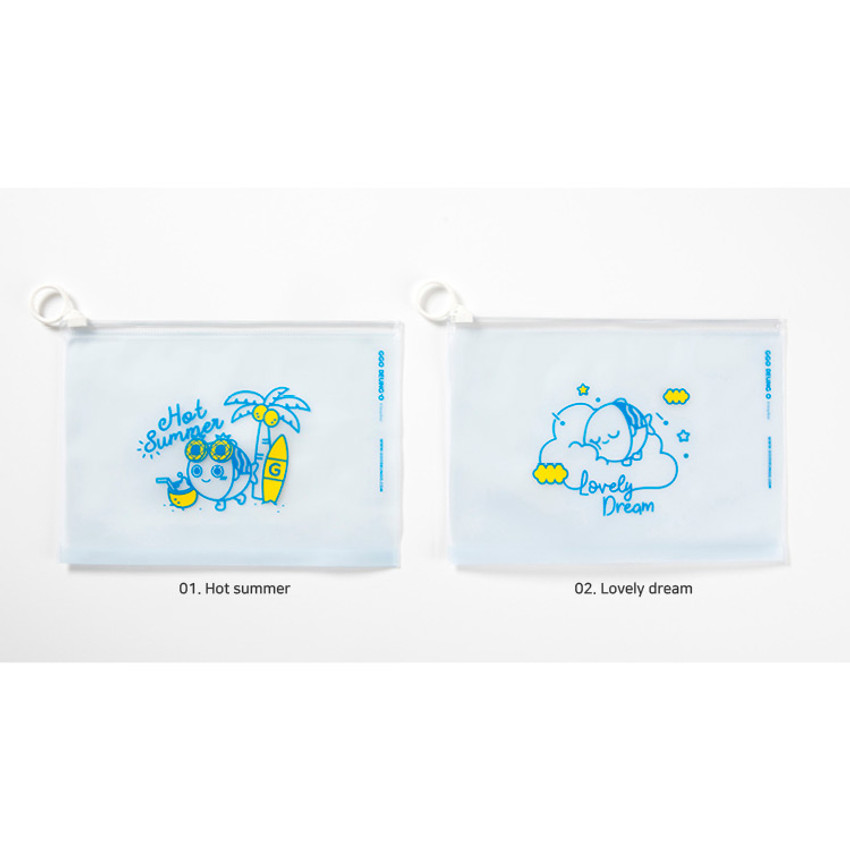 Option - DESIGN IVY Ggo deung o clear zip lock pouch