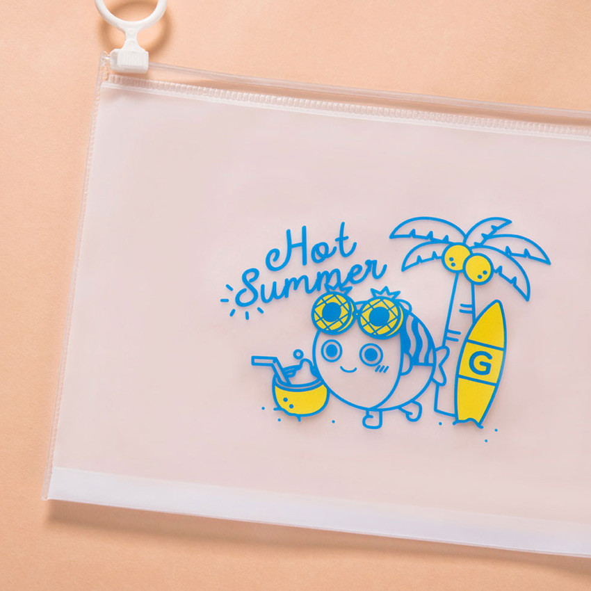 Hot Summer - DESIGN IVY Ggo deung o clear zip lock pouch