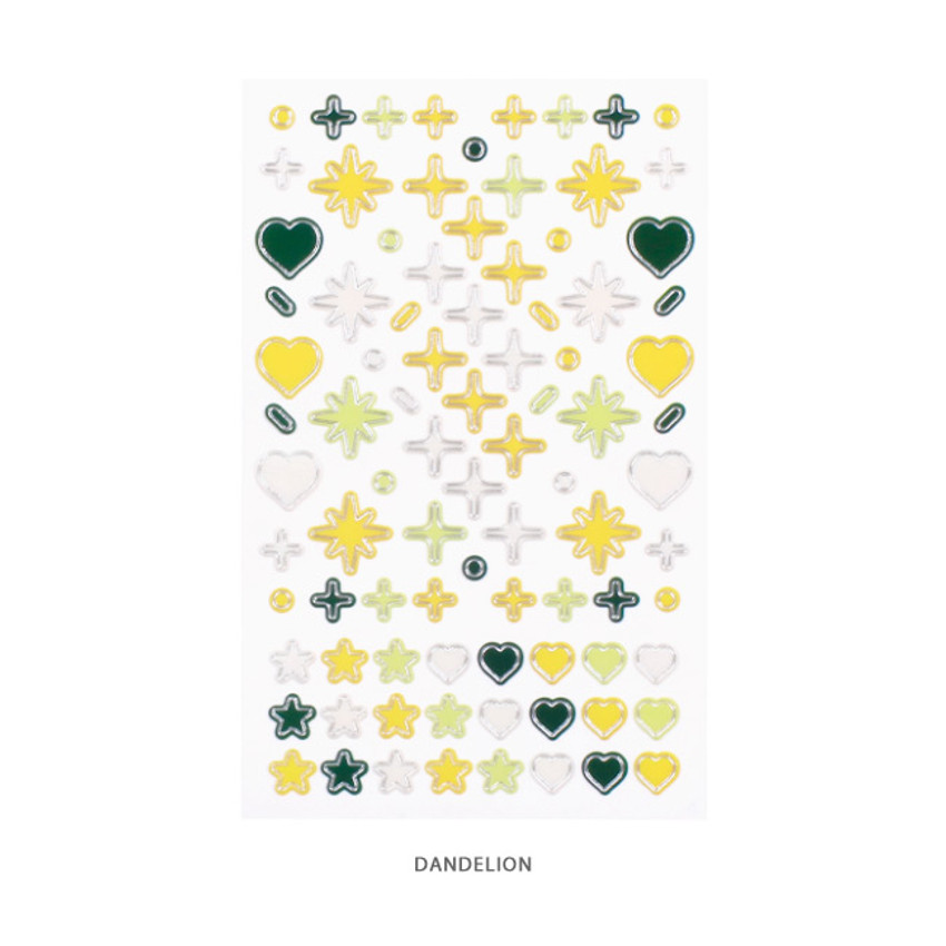 DANDELION - After The Rain Silver line deco sticker