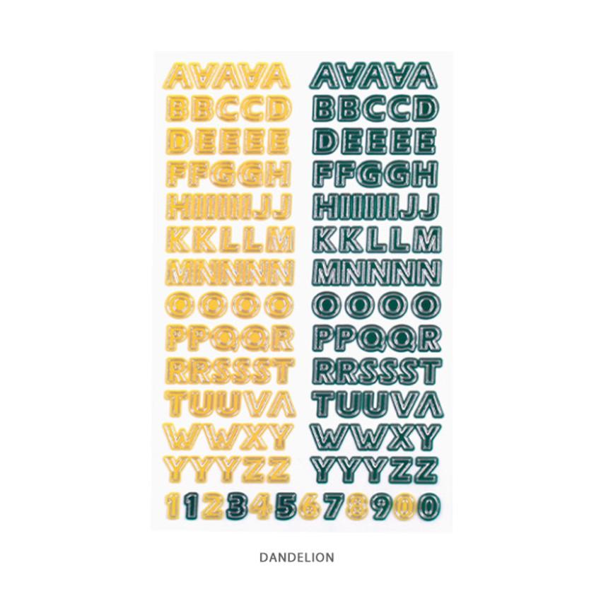Dandelion - After The Rain Silver line Alphabet deco sticker