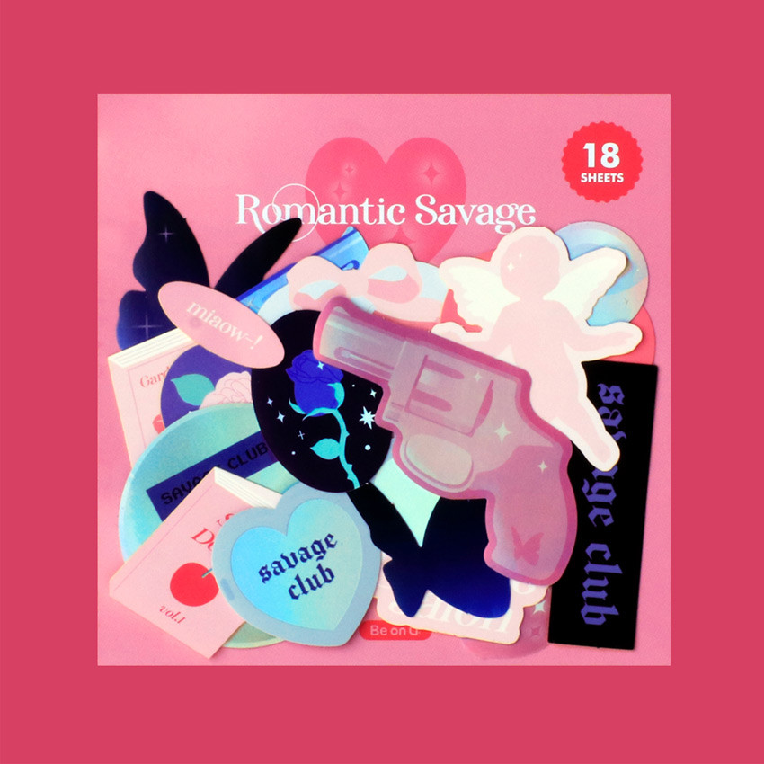 After The Rain Romantic savage deco sticker pack