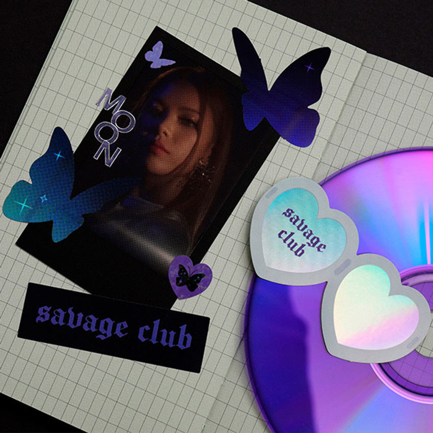 Usage example - After The Rain Romantic savage deco sticker pack