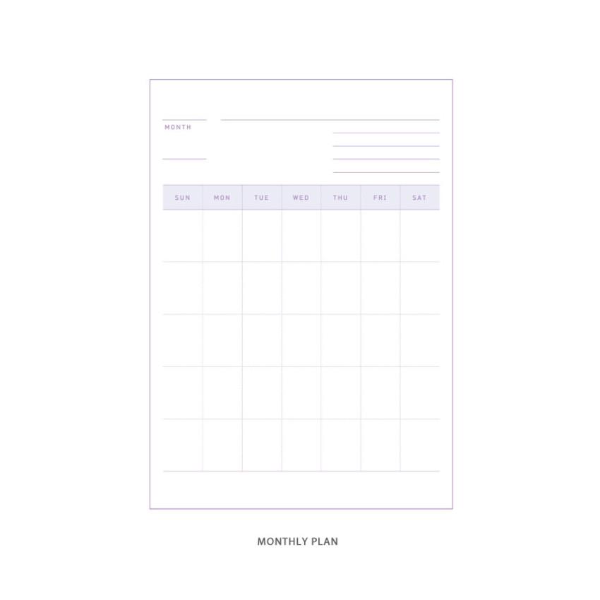 Monthly plan - DESIGN GOMGOM Reeli 100days spiral bound study planner
