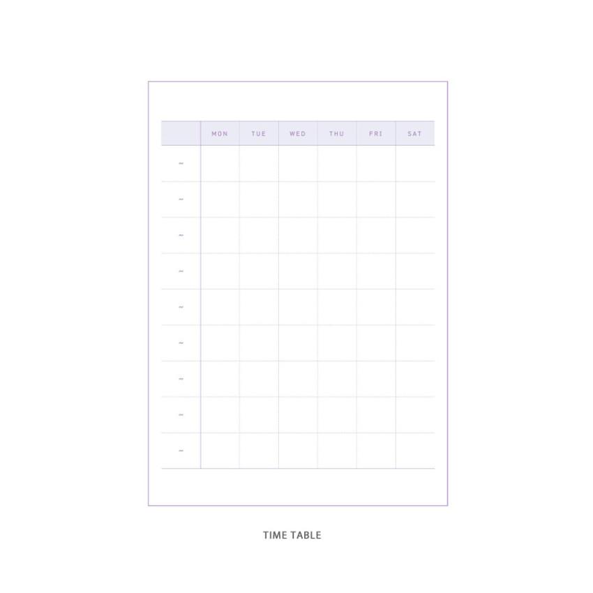 Time table - DESIGN GOMGOM Reeli 100days spiral bound study planner