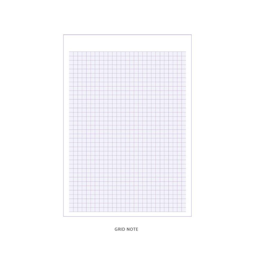 Grid note - DESIGN GOMGOM Reeli 100days spiral bound study planner