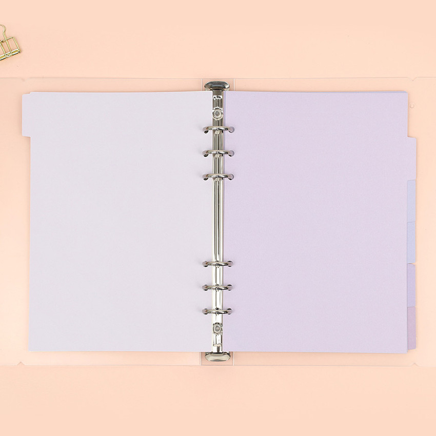 Purple - PAPERIAN Index loose-leaf binder paper 6-ring A5 size refill