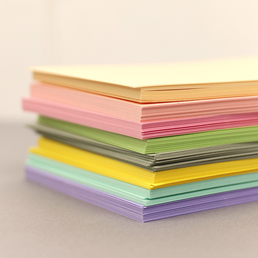 Set of 12 sheets - PAPERIAN Color cardstock paper 6-ring A5 size refill set
