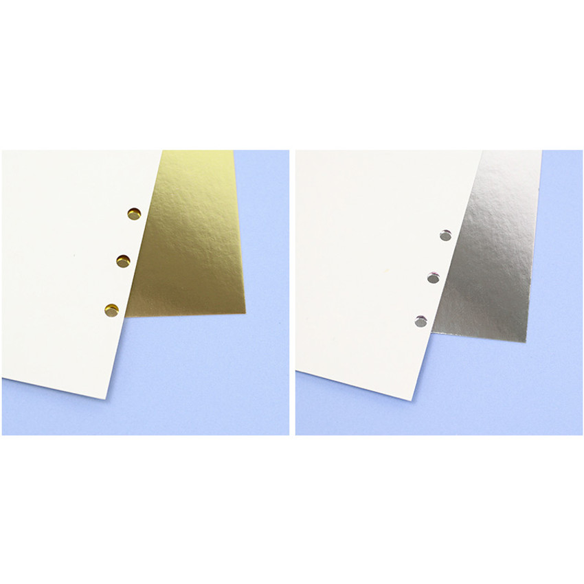 Single side - PAPERIAN Color cardstock cover paper 6-ring A5 size refill set