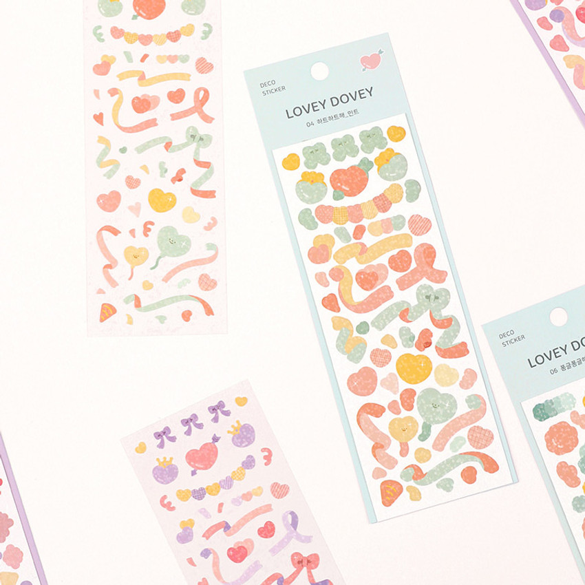 Dash And Dot Lovey dovey hologram deco sticker seal