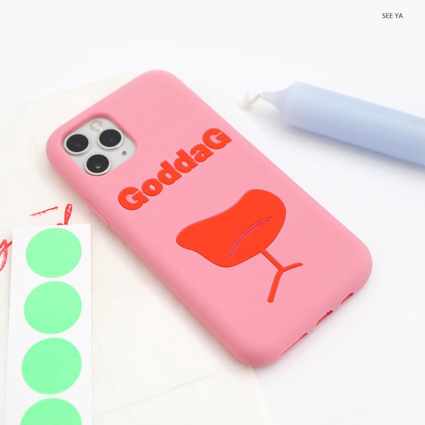 See ya - ROMANE MonagustA simple iPhone 11 pro silicone case