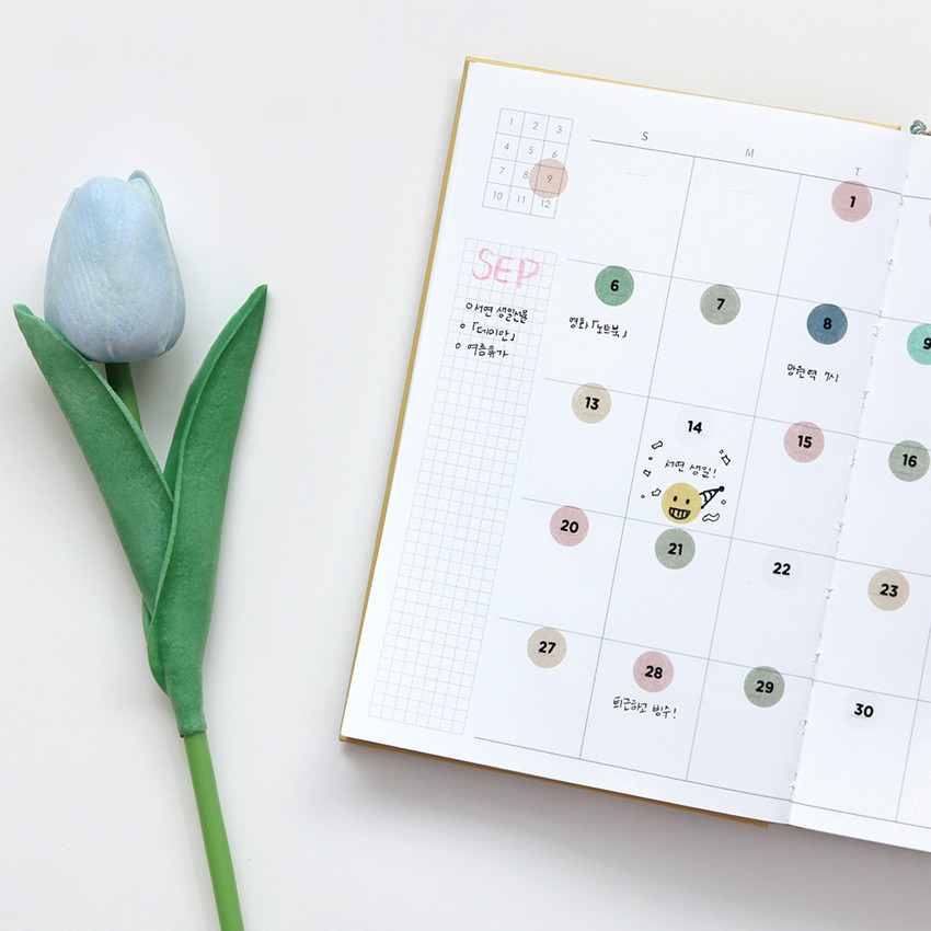 Usage example - GMZ The Memo my transparent deco Monthly sticker