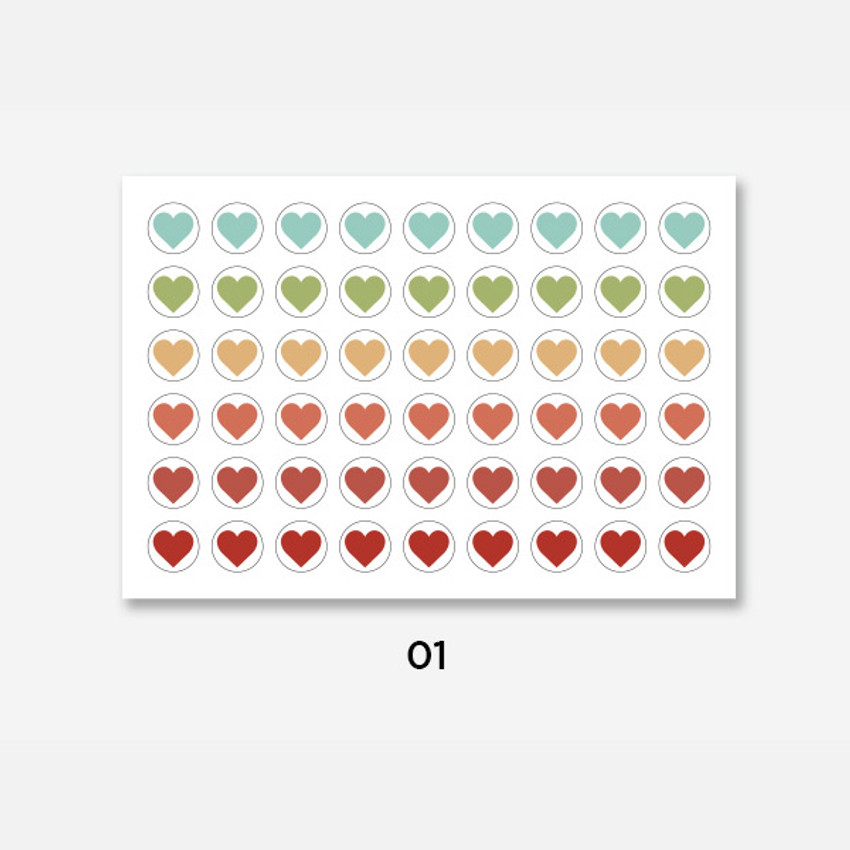 01 - GMZ The Memo Heart my transparent deco sticker