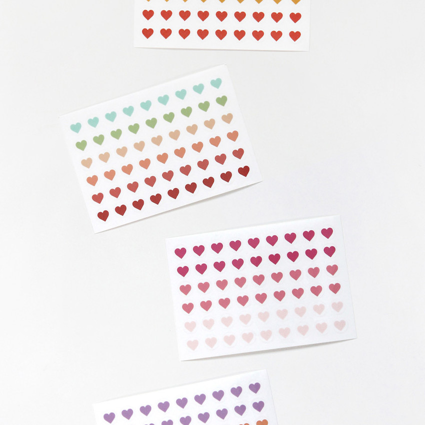 GMZ The Memo Heart my transparent deco sticker