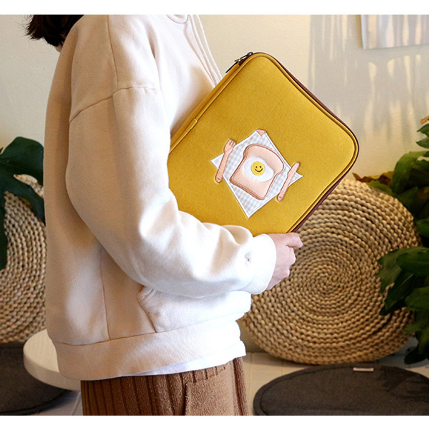 """Tailorbird embroidered 13"""" laptop PC zip sleeve pouch ver5"""