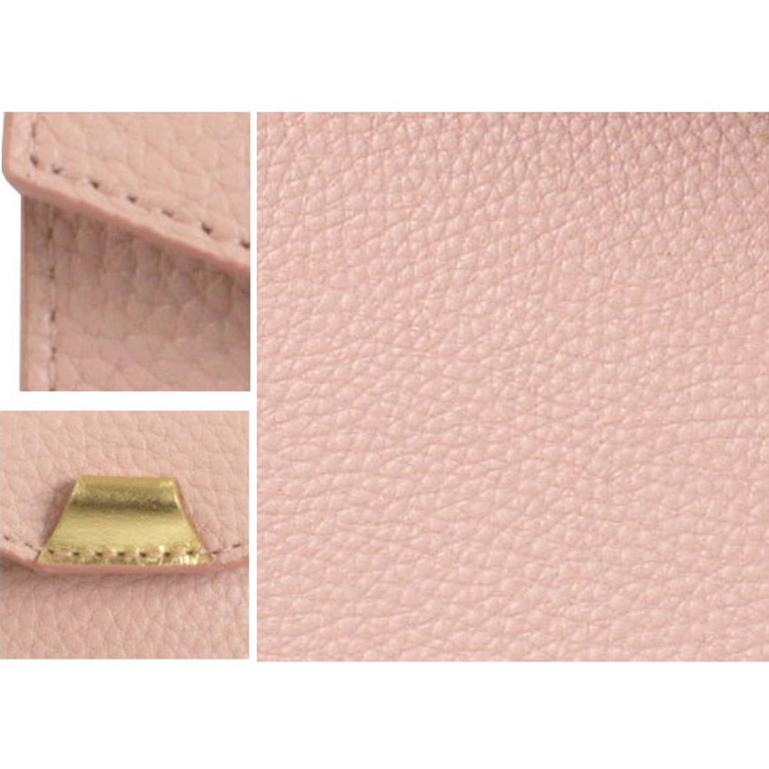 Detail of loiloi PU coated cow leather flat pencil case