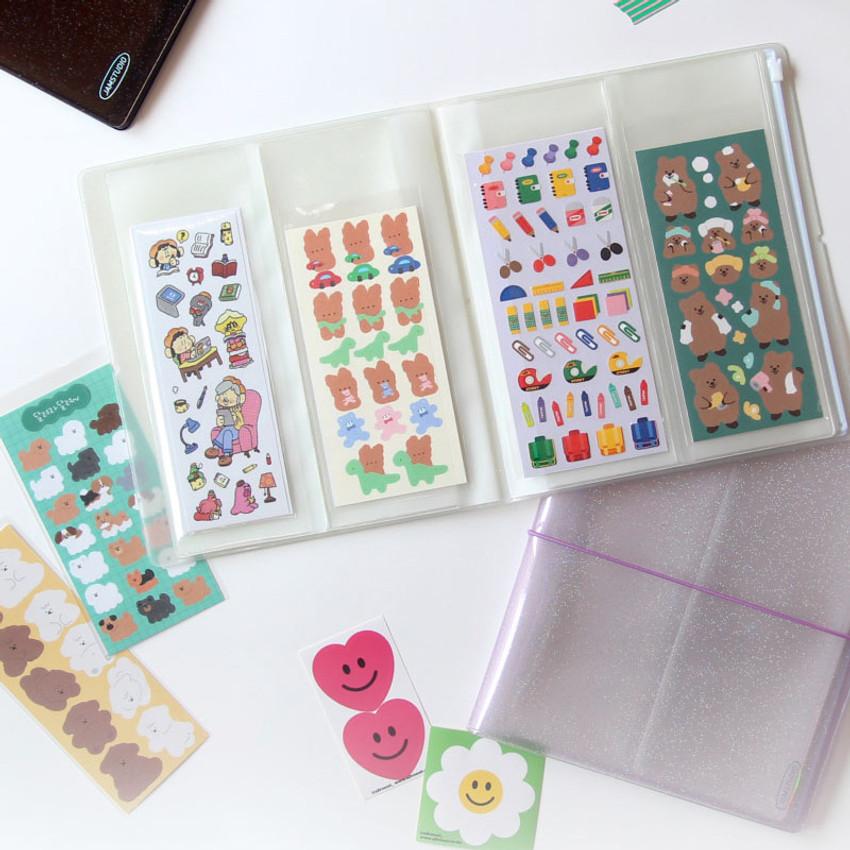 Usage example - Jam Studio Moa Moa slip in pocket sticker seals book album