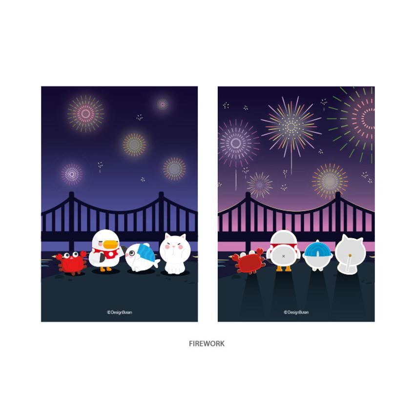 Firework - DESIGN IVY Ggo deung o lenticular postcard