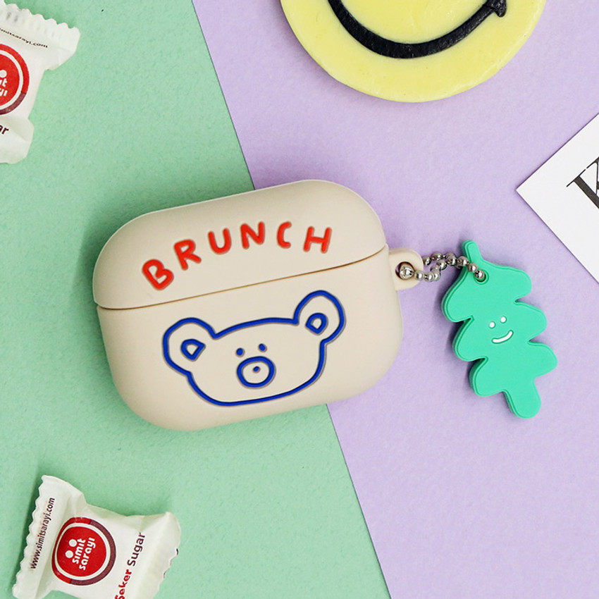 Light gray - Brunch brother Airpods pro silicone case