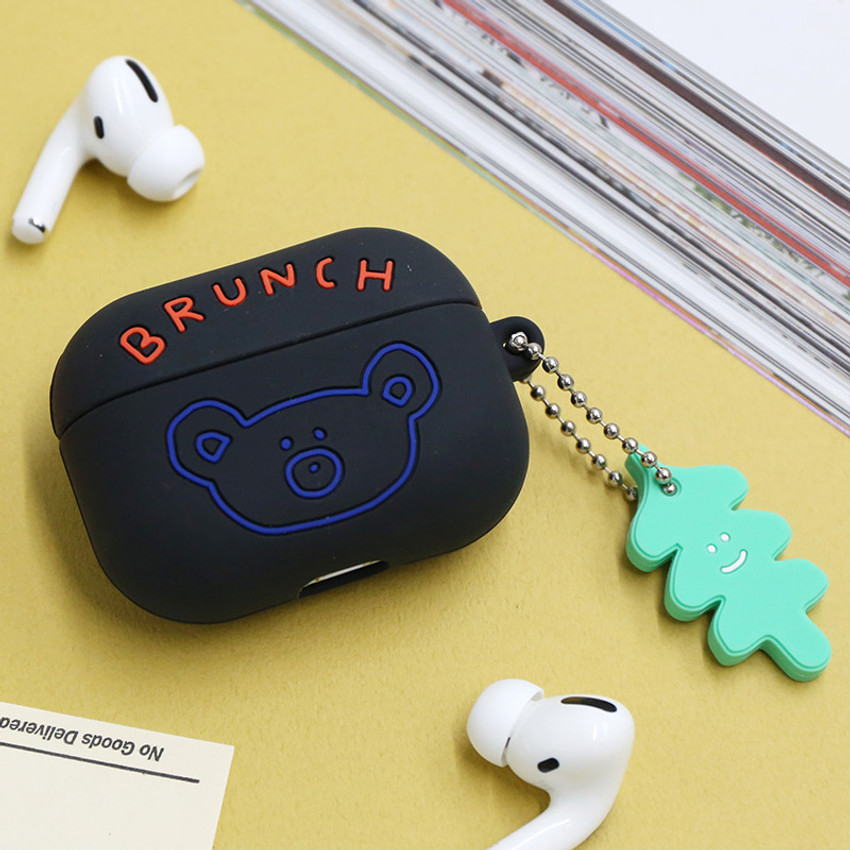 Black - Brunch brother Airpods pro silicone case
