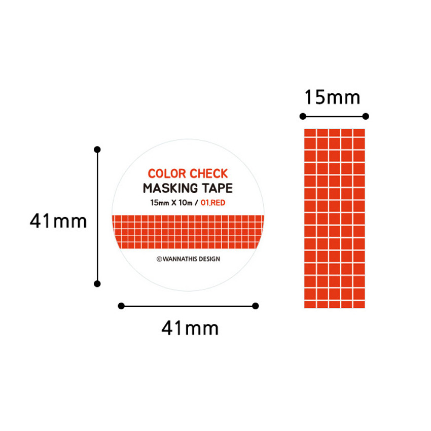 Size - Wanna This Color check 15mm X 10.9yd masking tape