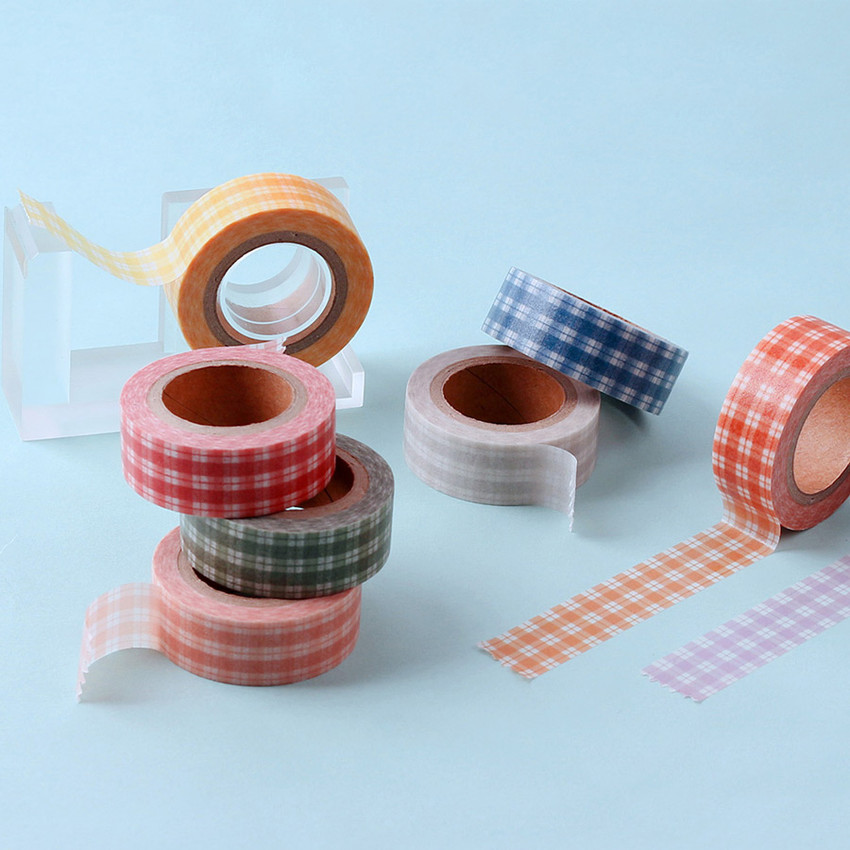 Wanna This Picnic check 15mm X 10.9yd masking tape