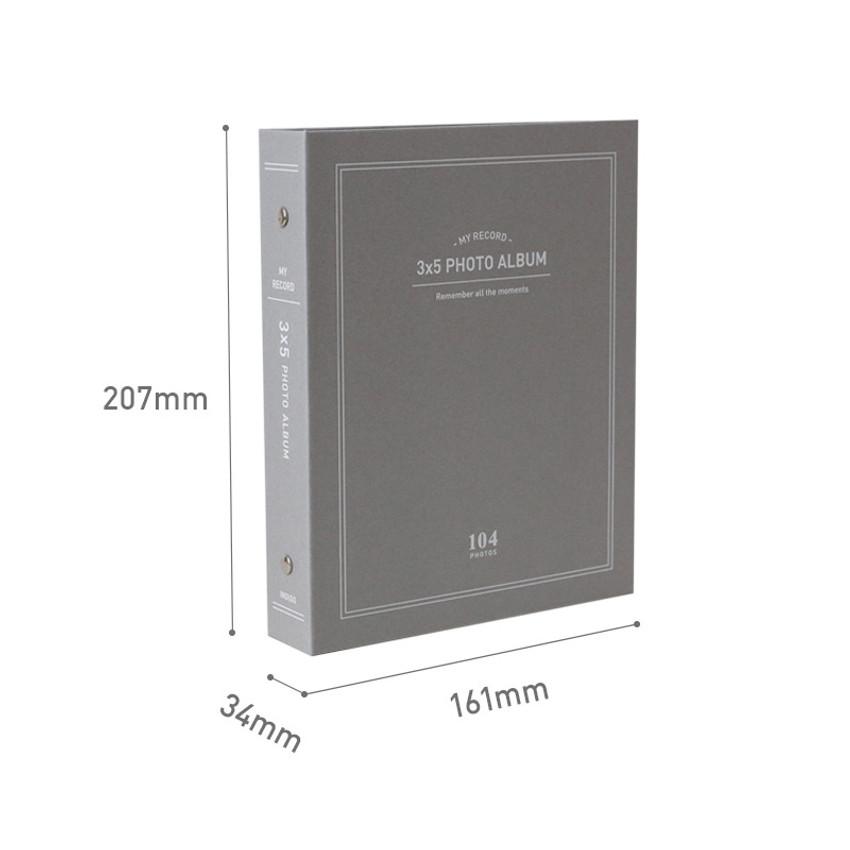 Size - Indigo My record 3X5 slip in the pocket photo album