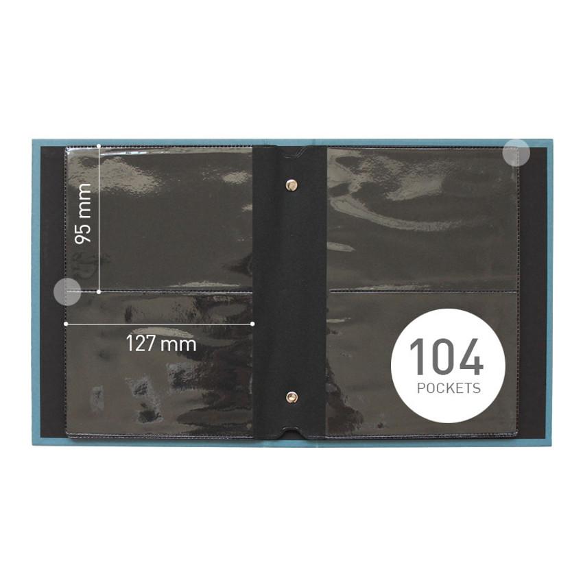 104 pockets - Indigo My record 3X5 slip in the pocket photo album