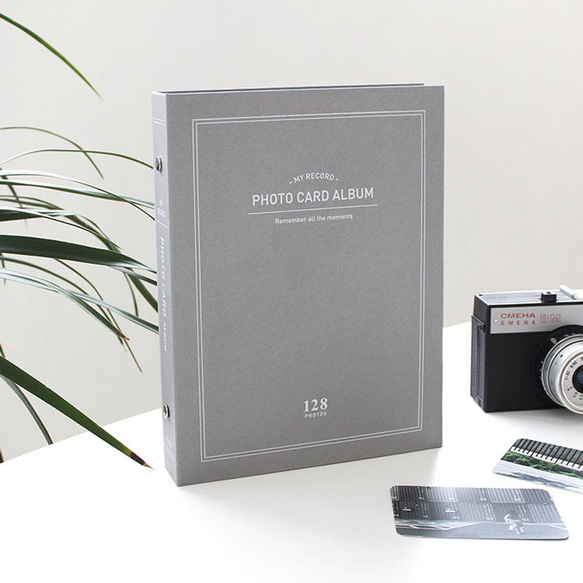 Gray - My record Instax mini polaroid slip in pocket photo album
