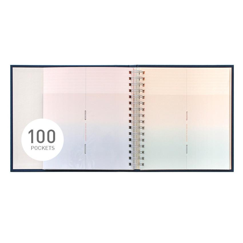 100 pockets - Indigo My record slip in pocket ticket book album