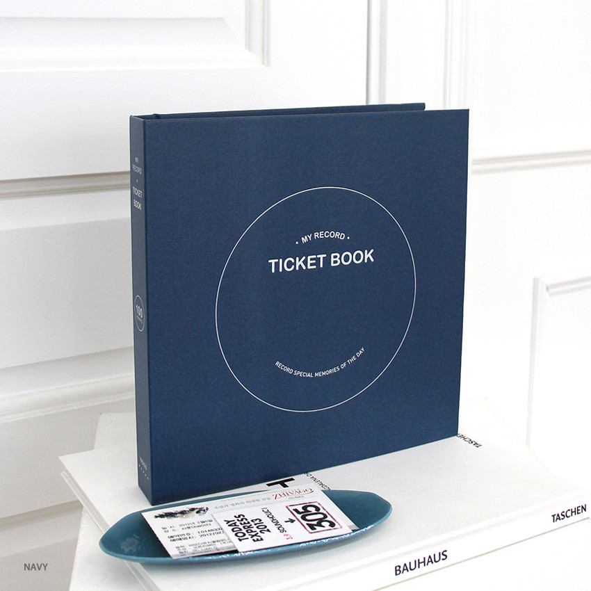 Navy - Indigo My record slip in pocket ticket book album