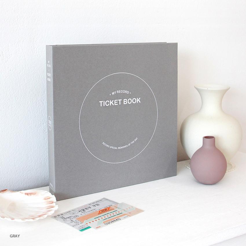 Gray - Indigo My record slip in pocket ticket book album