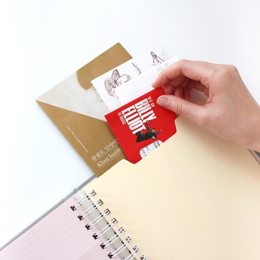 Paper envelope - Indigo My record slip in pocket ticket book album