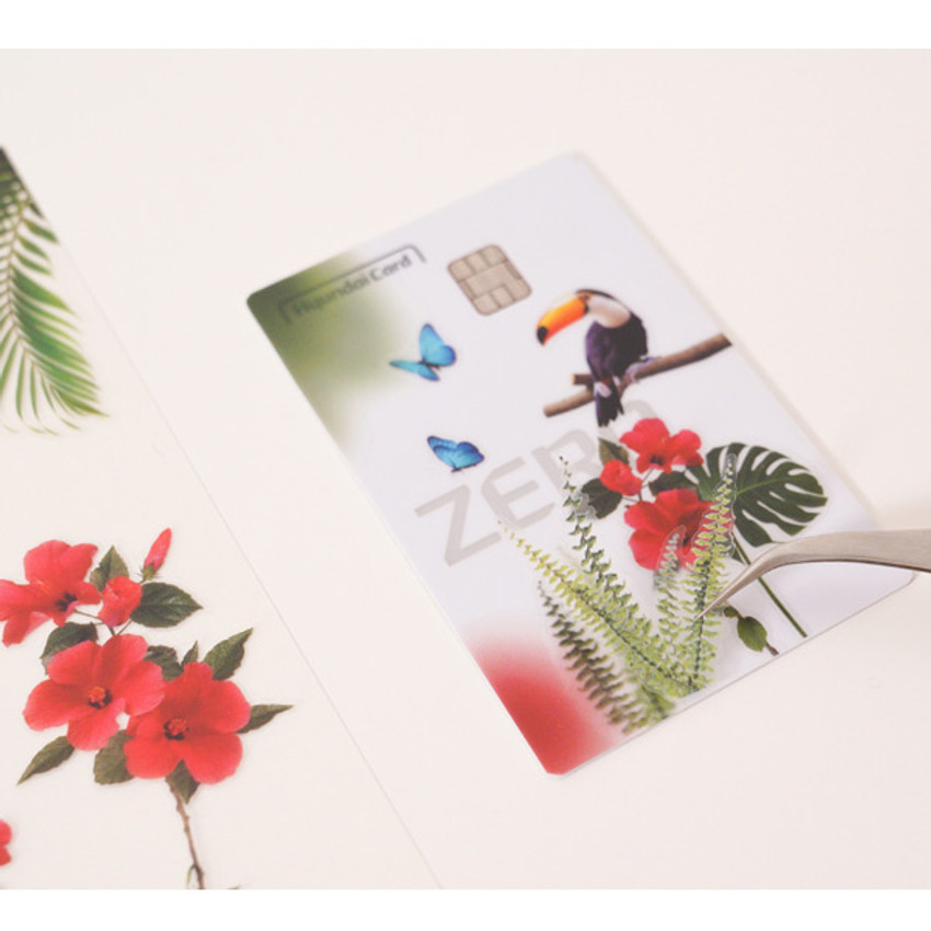 Usage example - Appree Tropical day nature scene sticker set