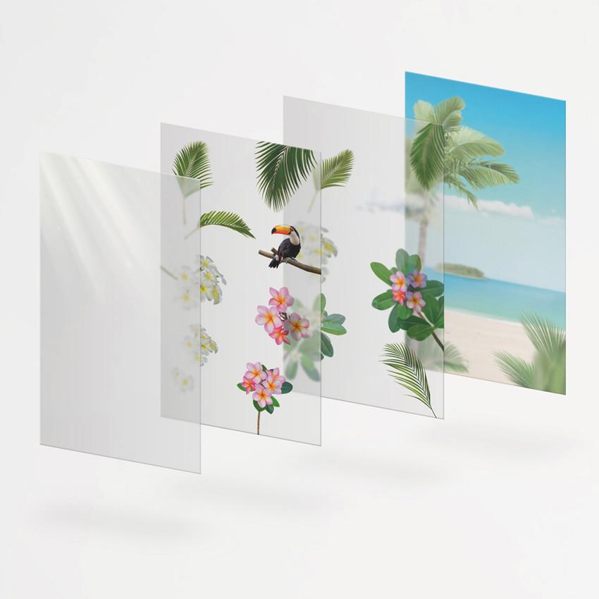 Appree Tropical day nature scene sticker set
