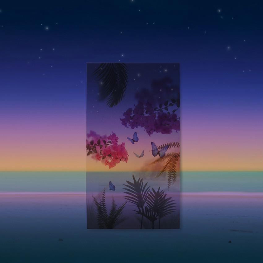 Appree Tropical night nature scene sticker set