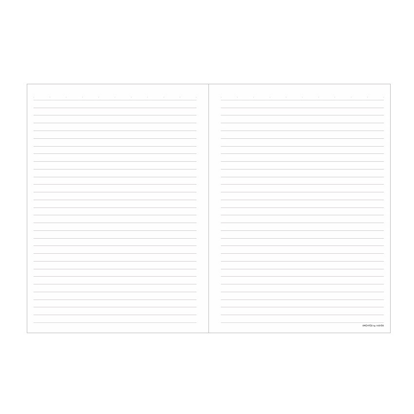 Ruled paper - Indigo Prism 56 spiral bound B5 lined notebook