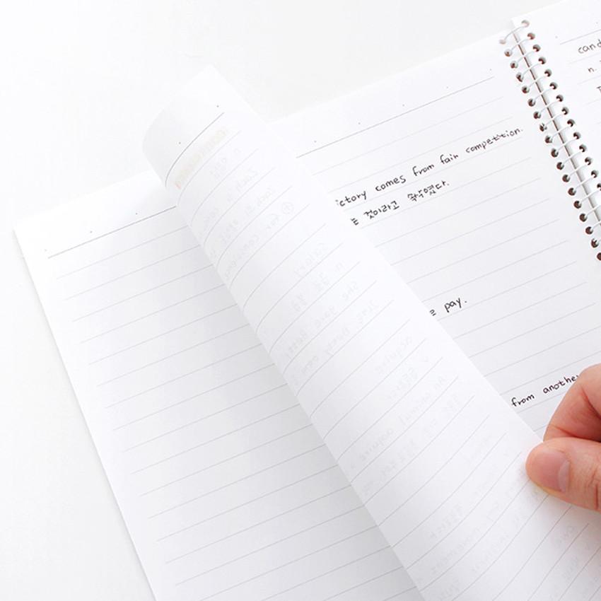 100gsm paper - Indigo Prism 56 spiral bound B5 lined notebook