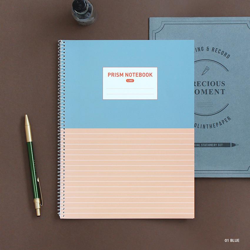 Blue - Indigo Prism 56 spiral bound B5 lined notebook