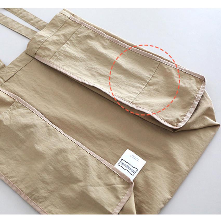 2 side open pockets - ROMANE MonagustA nylon shoulder bag